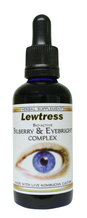 For Protecting and Improving your Eyesight- Lewtress Bilberry complex can improve short-sightedness, tired and photosensitive eyes, (over sensitive to light) while protecting against deteriorating eyesight often caused by long term damage from diabetes or cataracts. Bilberry extract can be used to treat severe retinal disturbances, macular degeneration and night blindness. Eyebright extract is known as a powerful anti-catarrhal which can help cle....