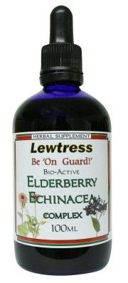 Herbal Supplements : Anti Viral Remedies : Lewtress Elderberry Echinacea Complex