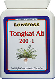 Lewtress Tongkat Ali capsules 200:1 Super Concentrate